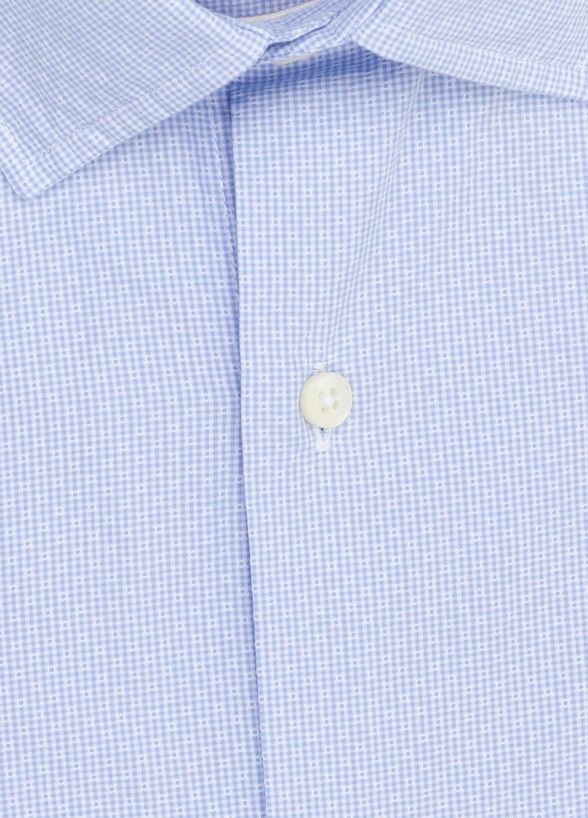 Camisa Casual Wear FUREST COLECCIÓN slim fit fil dibujo celeste - Ítem1