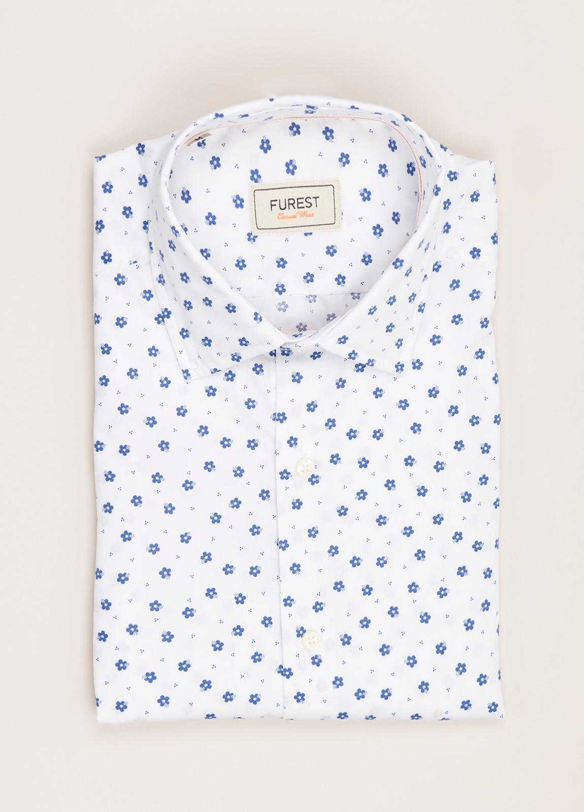 Camisa Casual Wear FUREST COLECCIÓN slim fit estampado flores