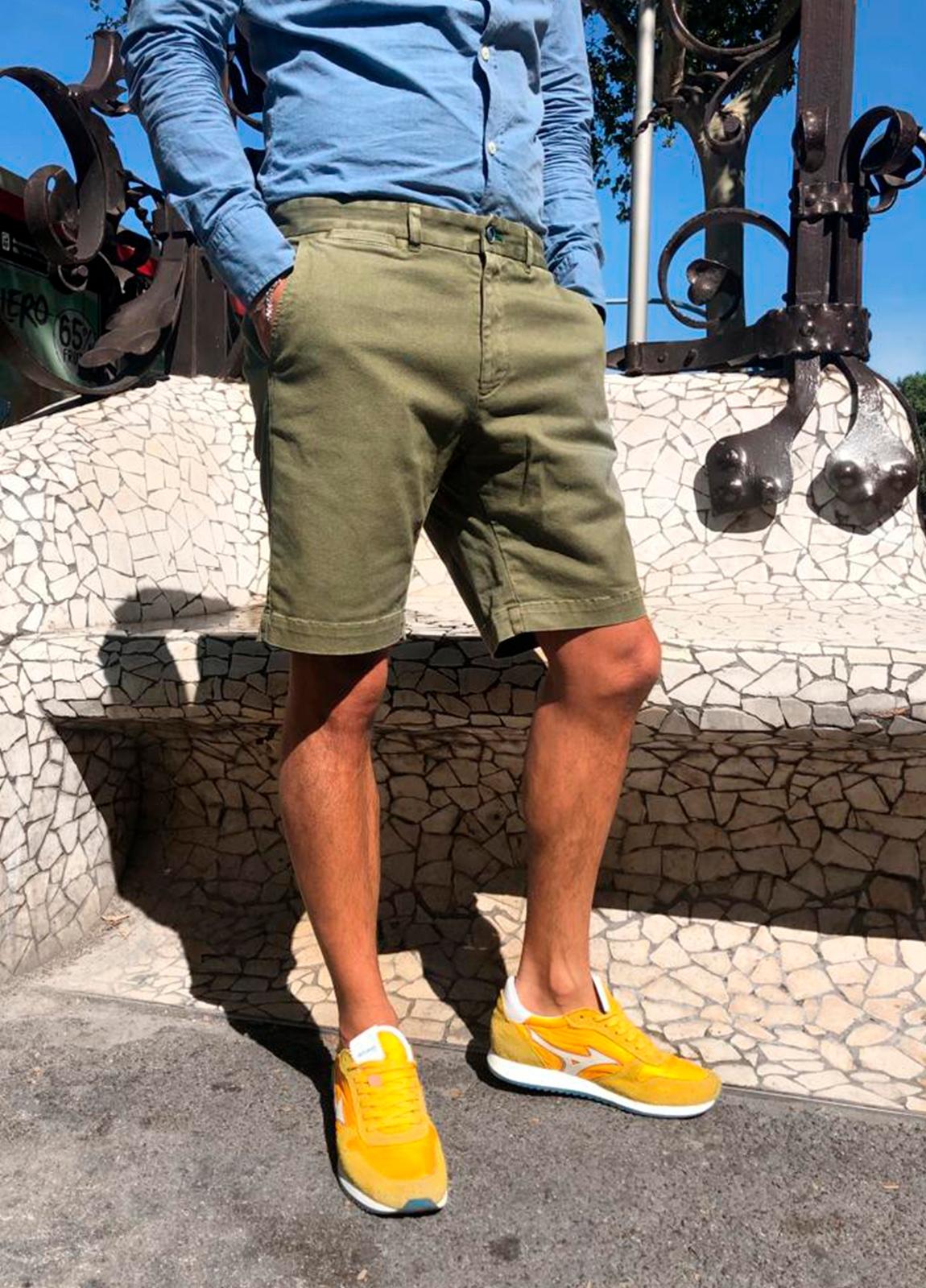 Bermuda modelo THOMAS color kaki, 100% Algodón. - Ítem1