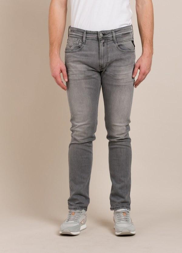 Pantalón tejano REPALY SLIM gris