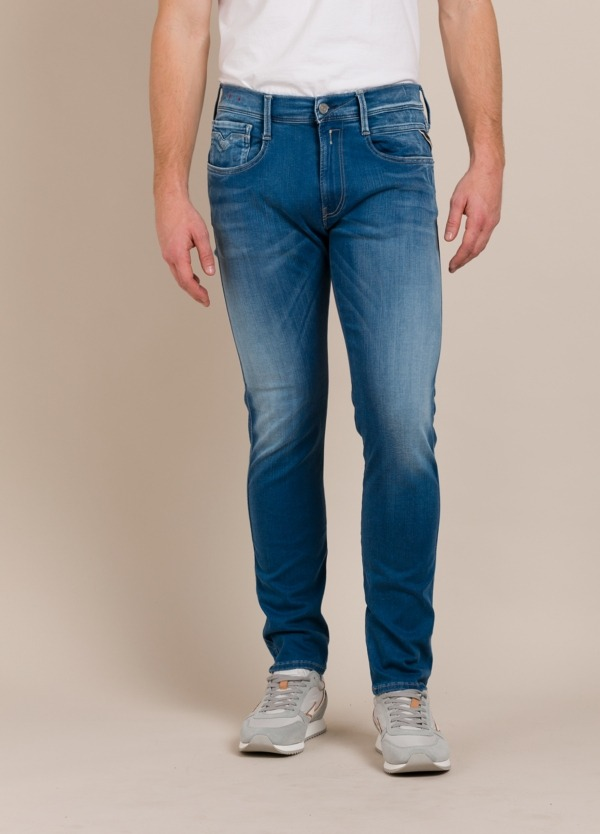 Pantalón tejano REPLAY SLIM FIT azul