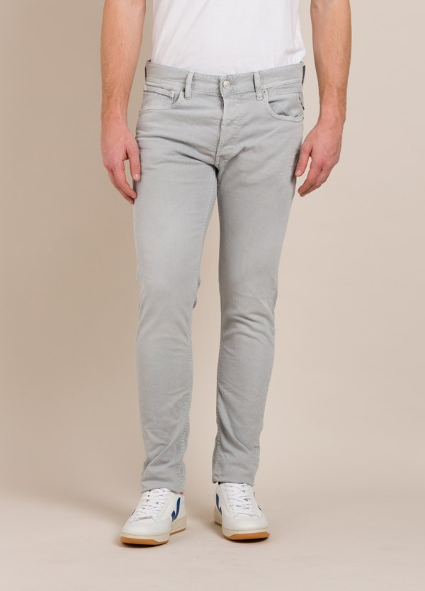 Pantalón 5 bolsillos REPLAY SLIM FIT gris