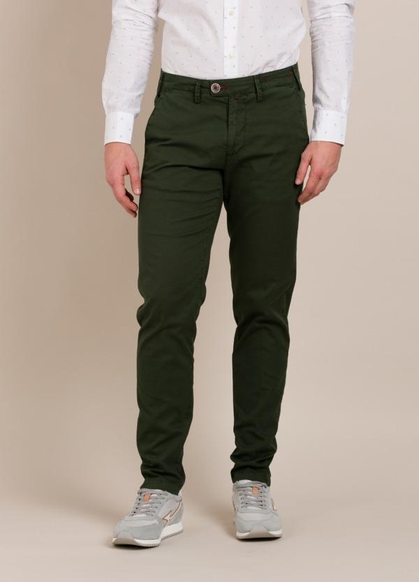 Pantalón chino BARONIO verde