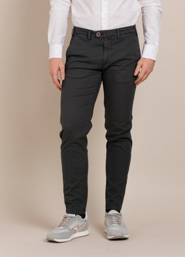 Pantalón chino BARONIO gris plomo