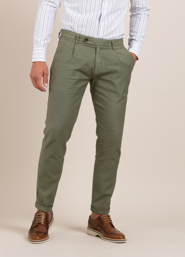Pantalón sport RE-HASH slim fit kaki