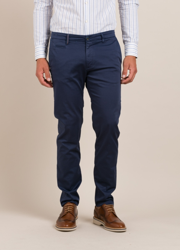 Pantalón sport RE-HASH slim fit marino