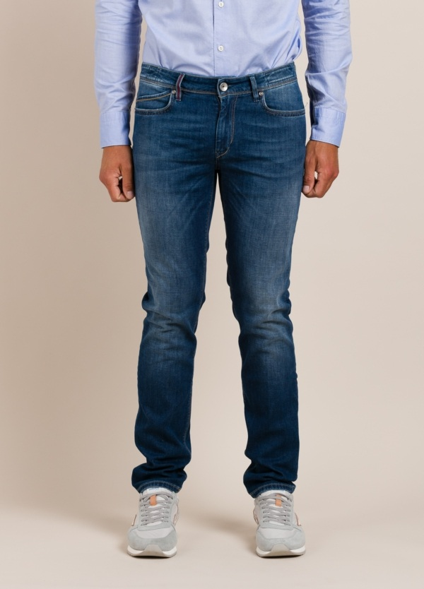 Pantalón sport RE-HASH slim fit tejano