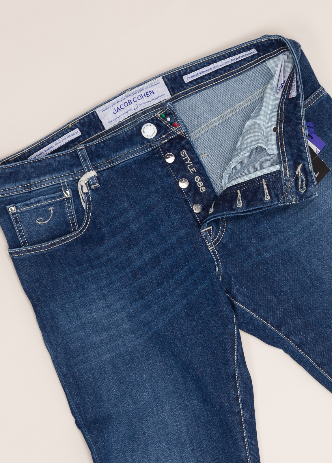 Pantalón tejano JACOB COHEN azul oscuro - Ítem1