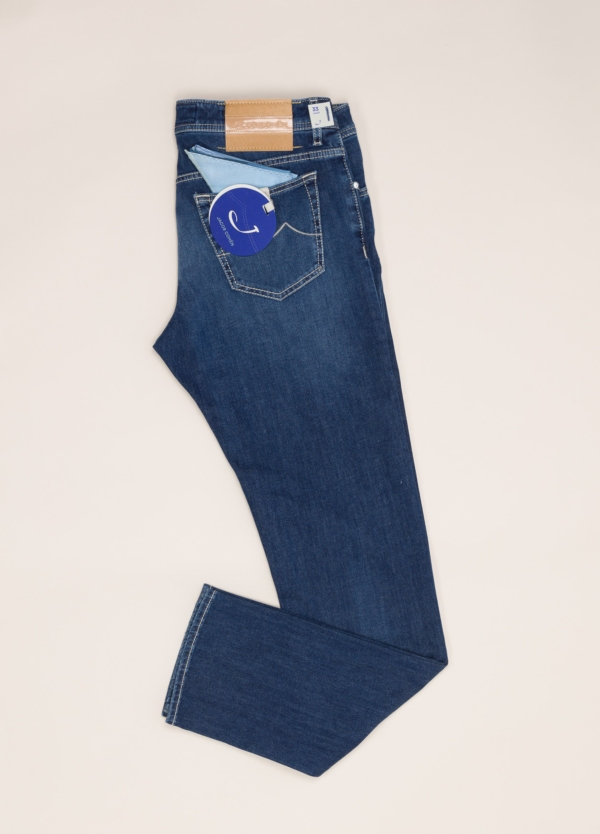 Pantalón tejano JACOB COHEN azul oscuro