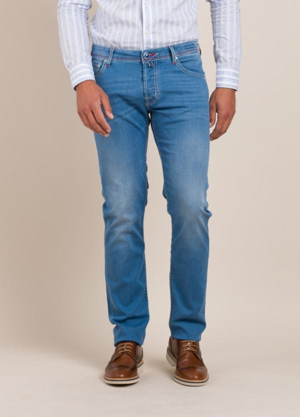 Pantalón tejano JACOB COHEN azul medio