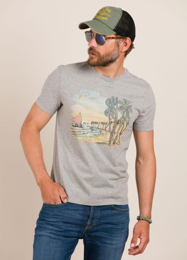 Camiseta FUREST COLECCIÓN estampado vintage gris