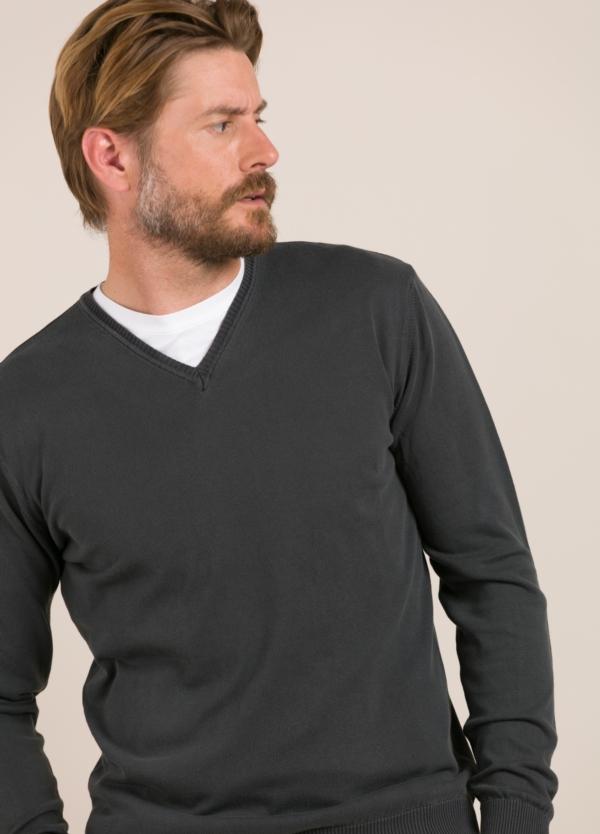 Jersey FUREST COLECCIÓN cuello pico gris