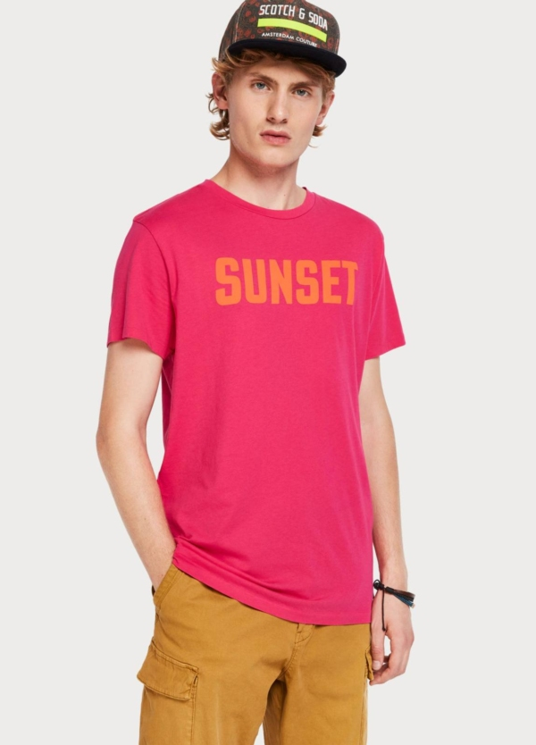 Camiseta SCOTCH & SODA fucsia