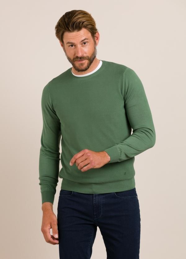 Jersey FERRANTE cuello redondo verde