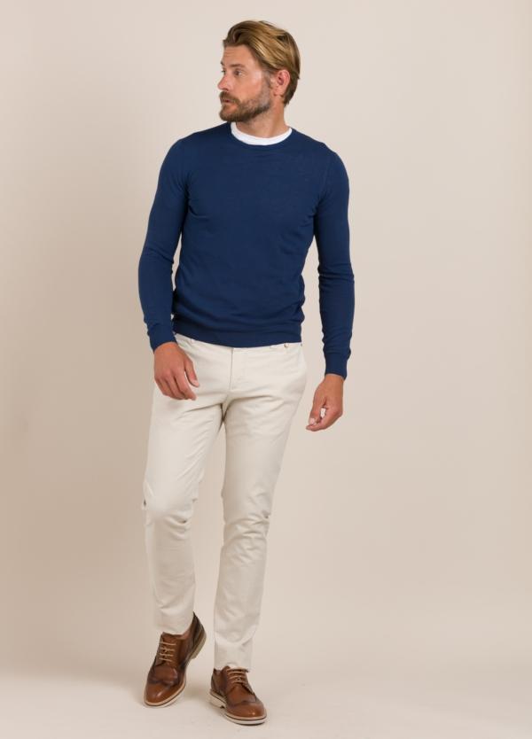 Jersey FERRANTE cuello redondo azul