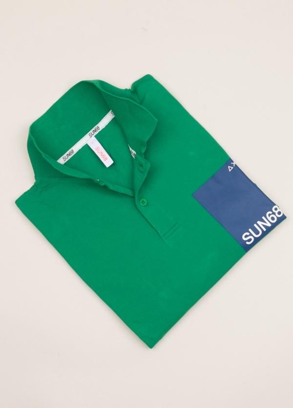 Polo SUN 68 verde print logo
