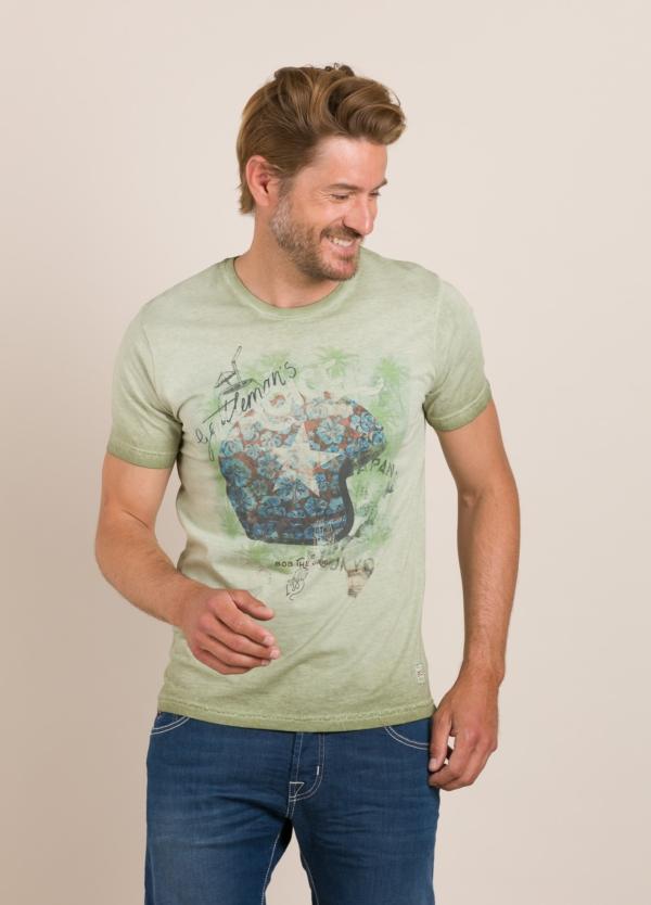 Camiseta BOB estampado vintage verde