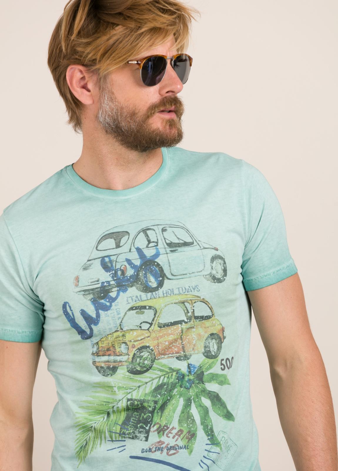 Camiseta BOB estampado vintage turquesa - Ítem1