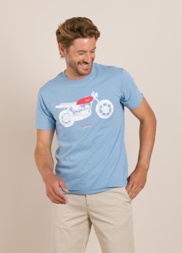 Camiseta DEUS celeste