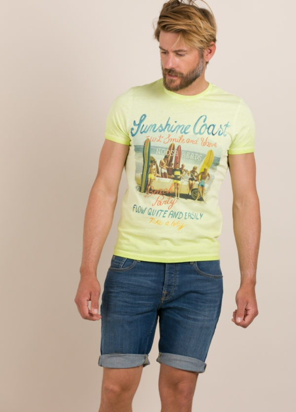 Camiseta TAKE A WAY dibujo vintage playa
