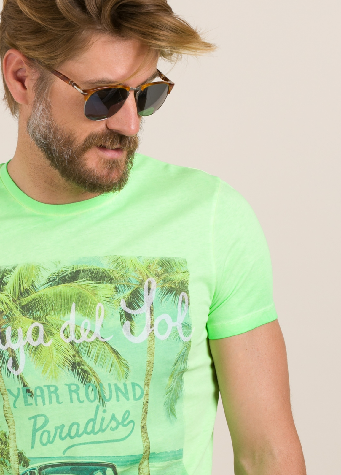 Camiseta TAKE A WAY dibujo vintage verde - Ítem2
