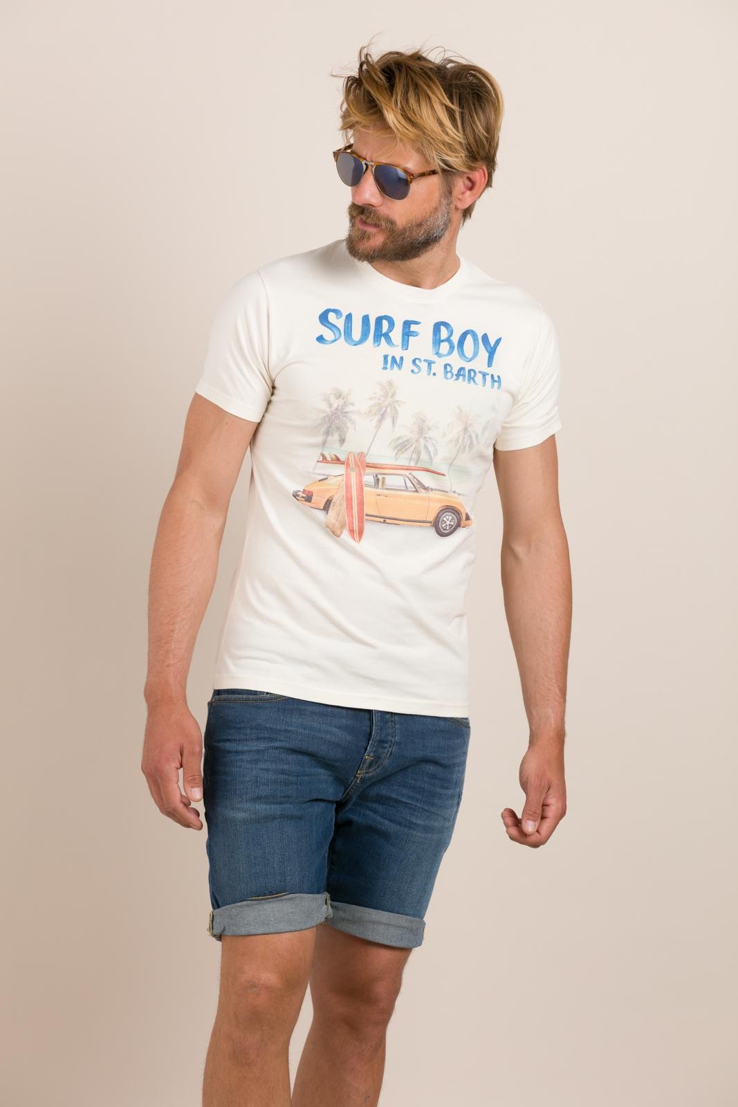Camiseta MC2 estampado gráfico surf