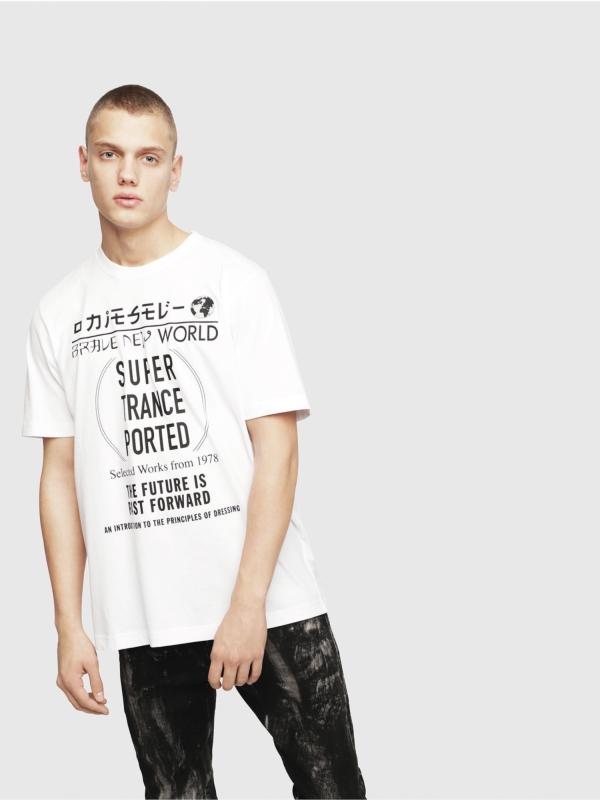 Camiseta DIESEL estampado gráfico blanco