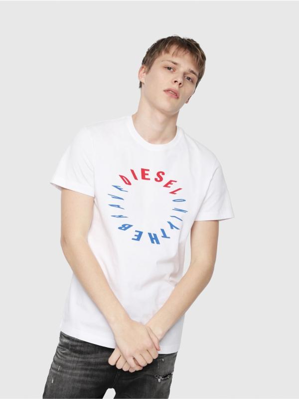 Camiseta DIESEL logo circular blanco