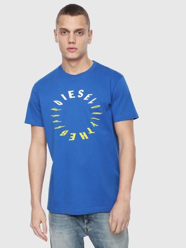 Camiseta DIESEL logo circular azul