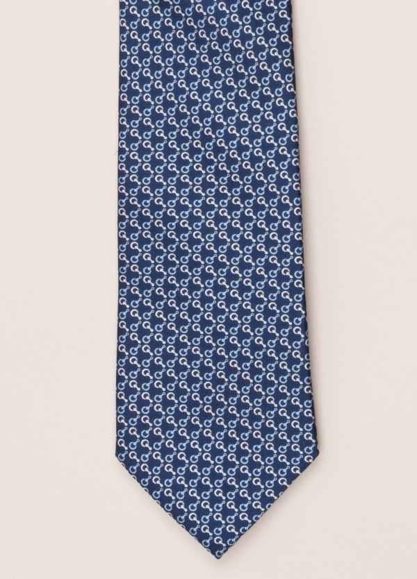 Corbata FUREST COLECCIÓN dibujo azul