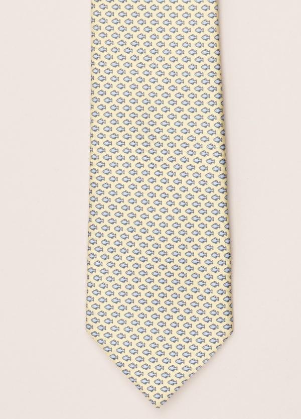 Corbata FUREST COLECCIÓN amarillo dibujo