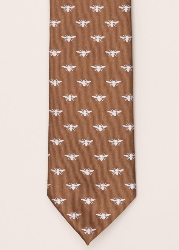 Corbata FUREST COLECCIÓN marrón dibujo