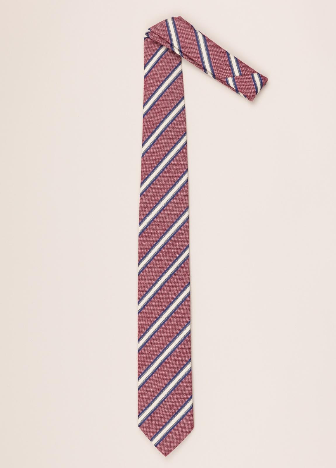 Corbata FUREST COLECCIÓN rayas granate - Ítem1