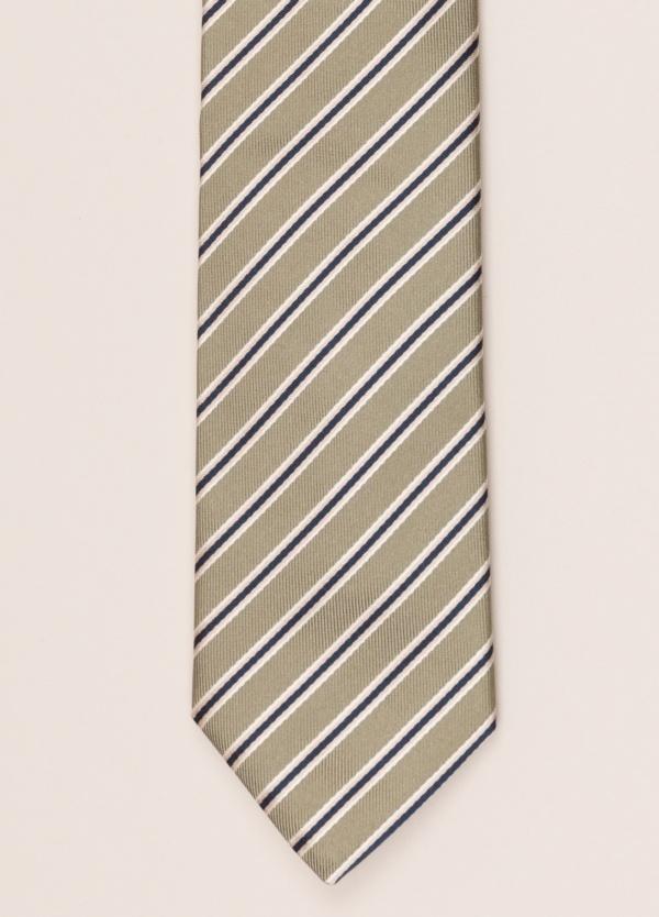 Corbata FUREST COLECCIÓN rayas beige