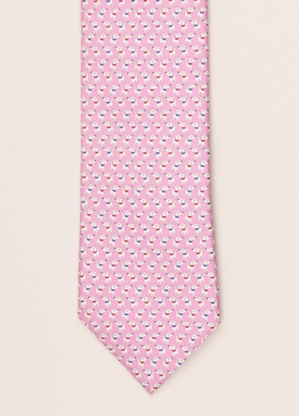 Corbata FUREST COLECCIÓN dibujo rosa