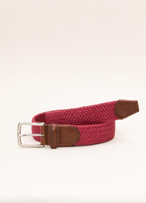 Cinturón Sport FUREST COLECCIÓN trenzado rojo