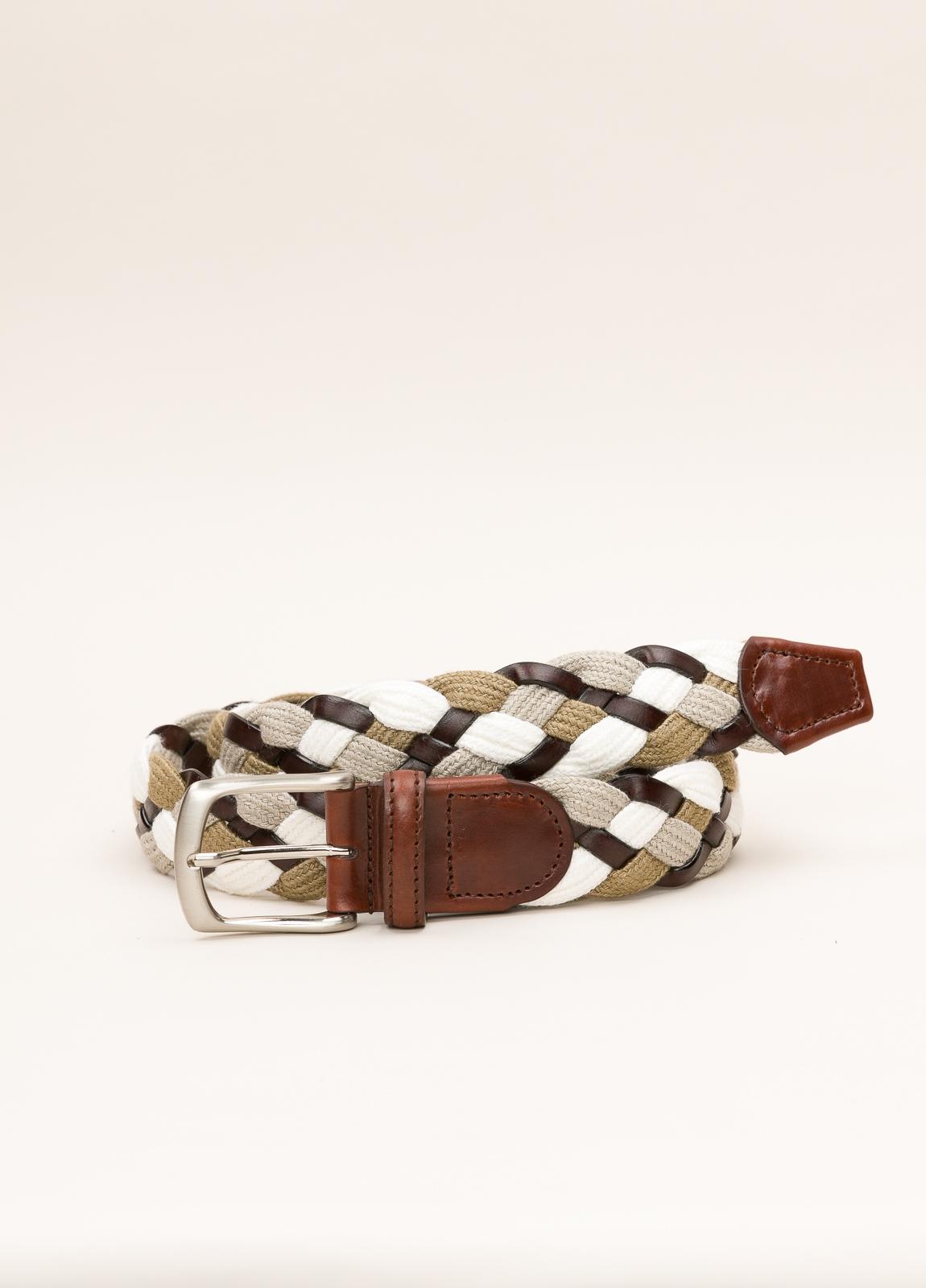 Cinturón Sport FUREST COLECCIÓN trenzado beige