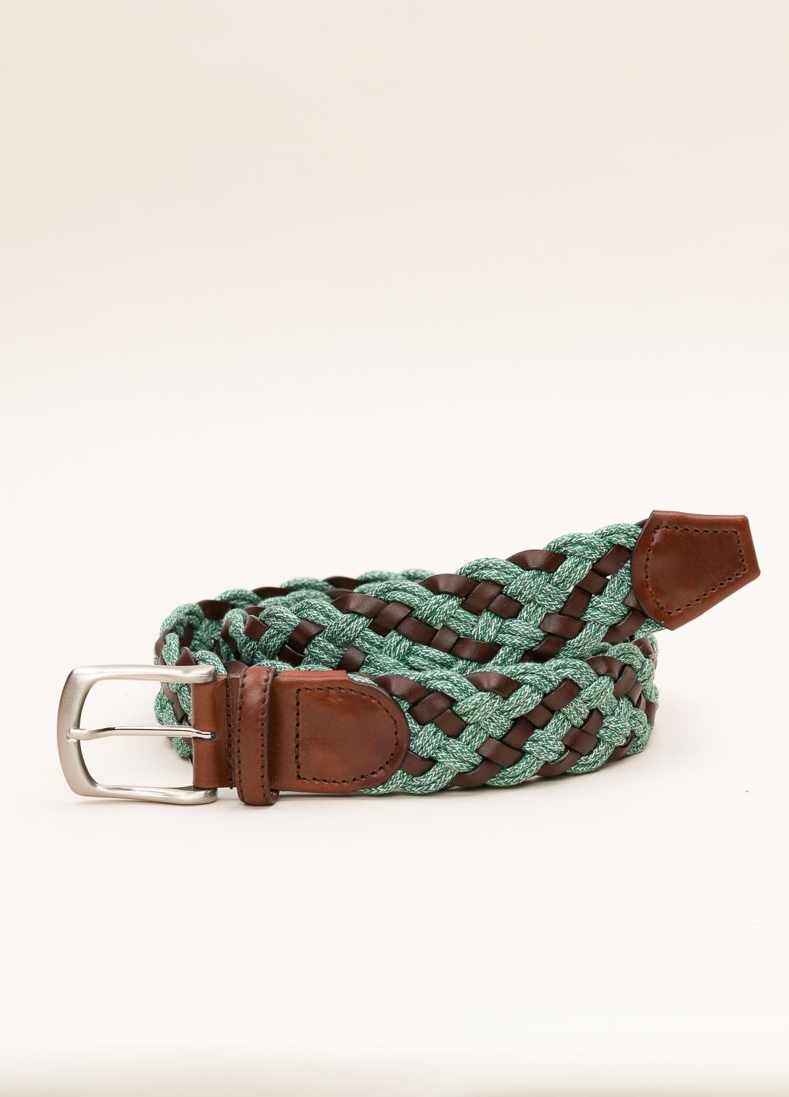 Cinturón Sport FUREST COLECCIÓN trenzado verde