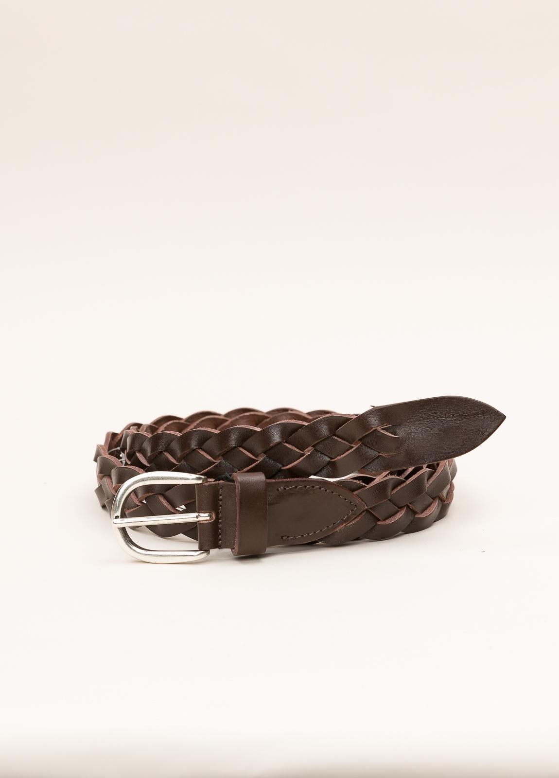 Cinturón sport ITALIAN BELTS trenzado marrón