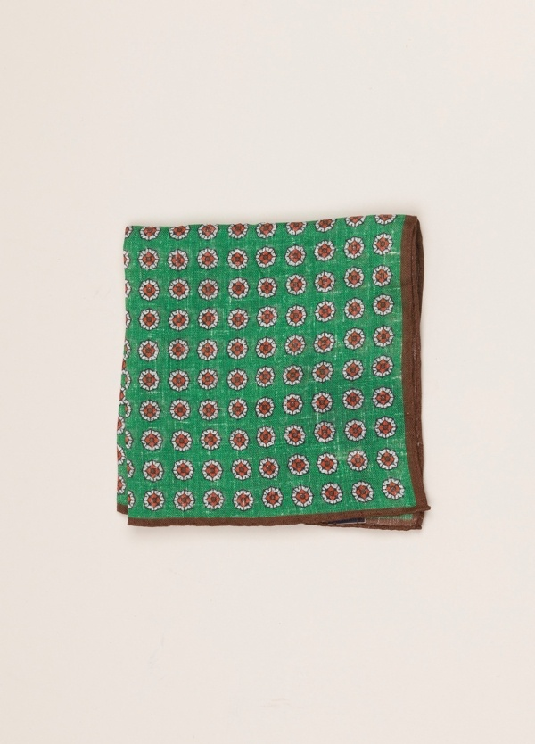 Pañuelo bolsillo ALTEA dibujo verde