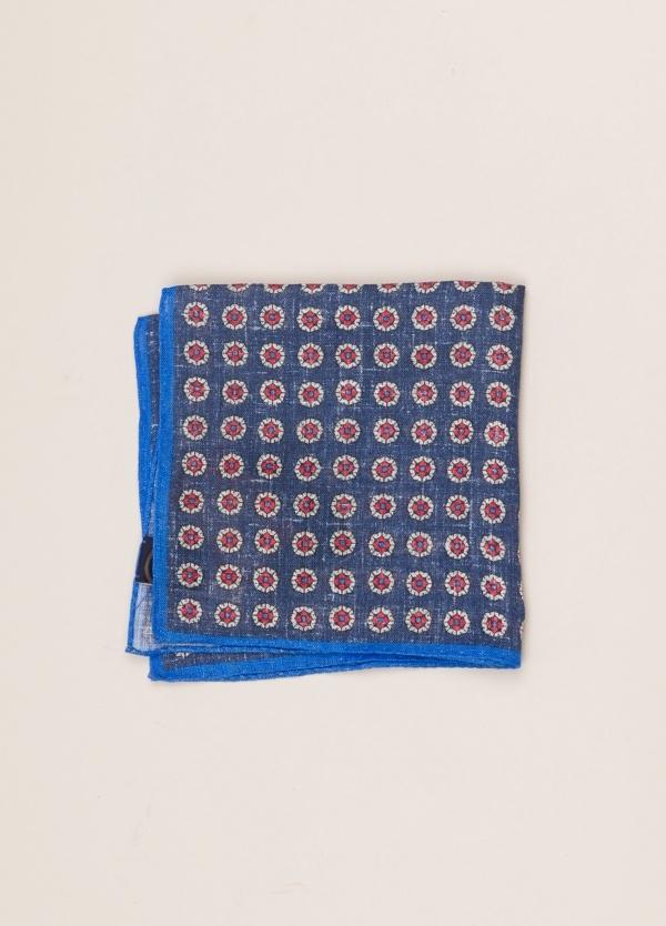 Pañuelo bolsillo ALTEA dibujo azul