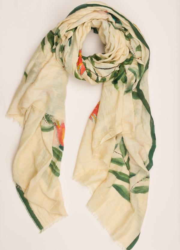 Foulard CAMERUCCI estampado hojas