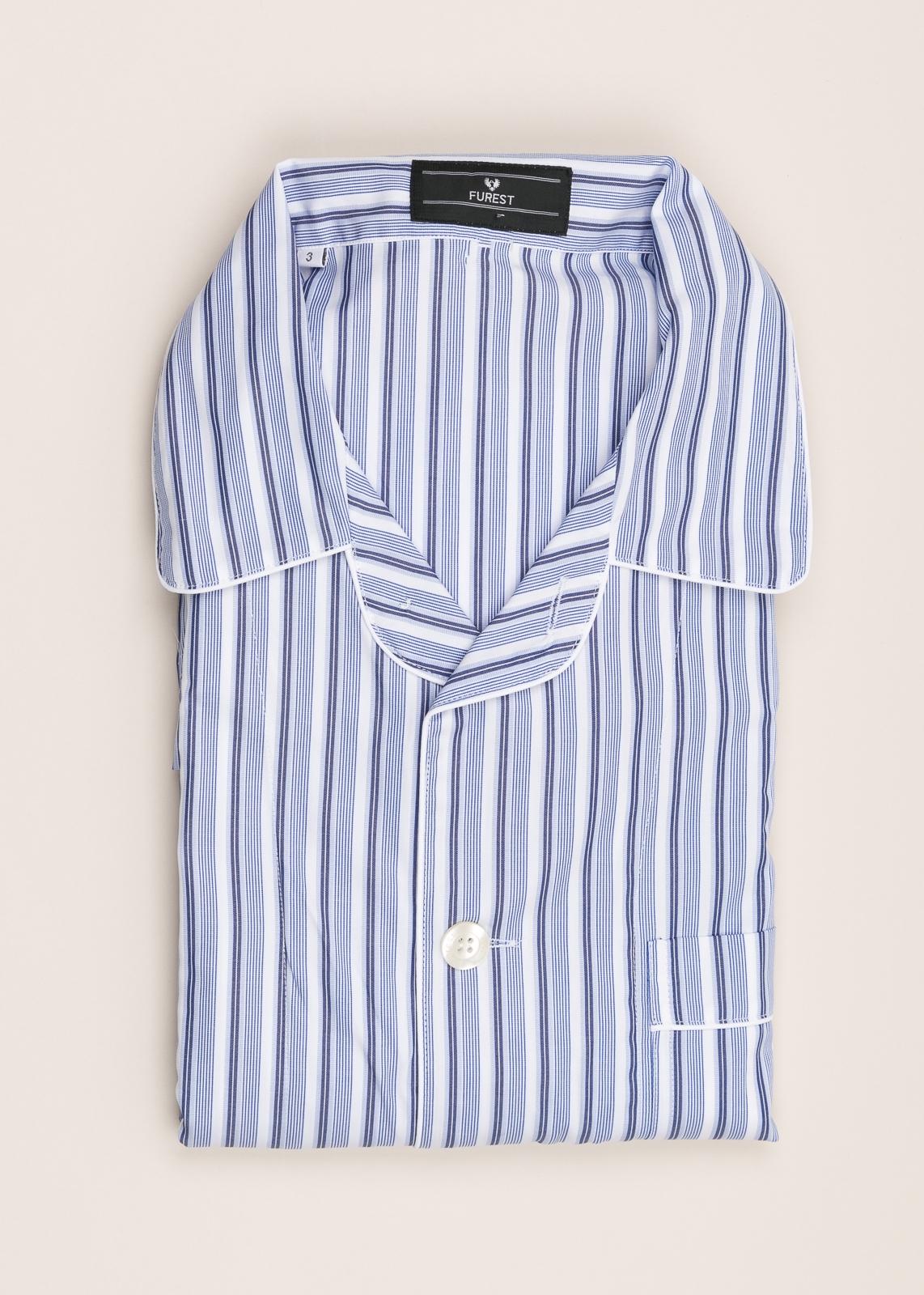 Pijama corto FUREST COLECCIÓN rayas azul