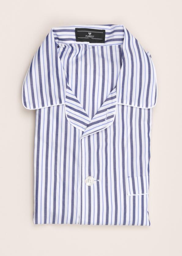 Pijama corto FUREST COLECCIÓN rayas marino