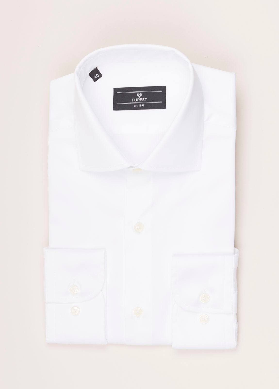 Camisa vestir FUREST COLECCIÓN REGULAR FIT twill blanco