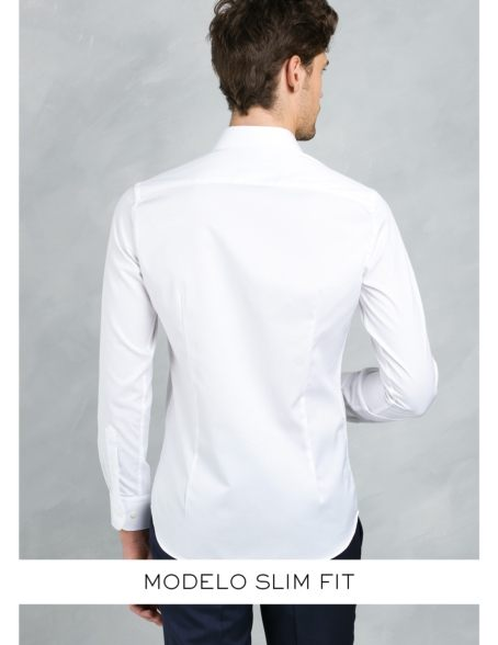 Camisa Formal Wear SLIM FIT cuello italiano modelo ROMA microtextura color celeste, 100% Algodón. - Ítem4