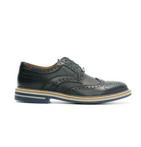 Zapato Formal Wear color azul marino, 100% Piel.