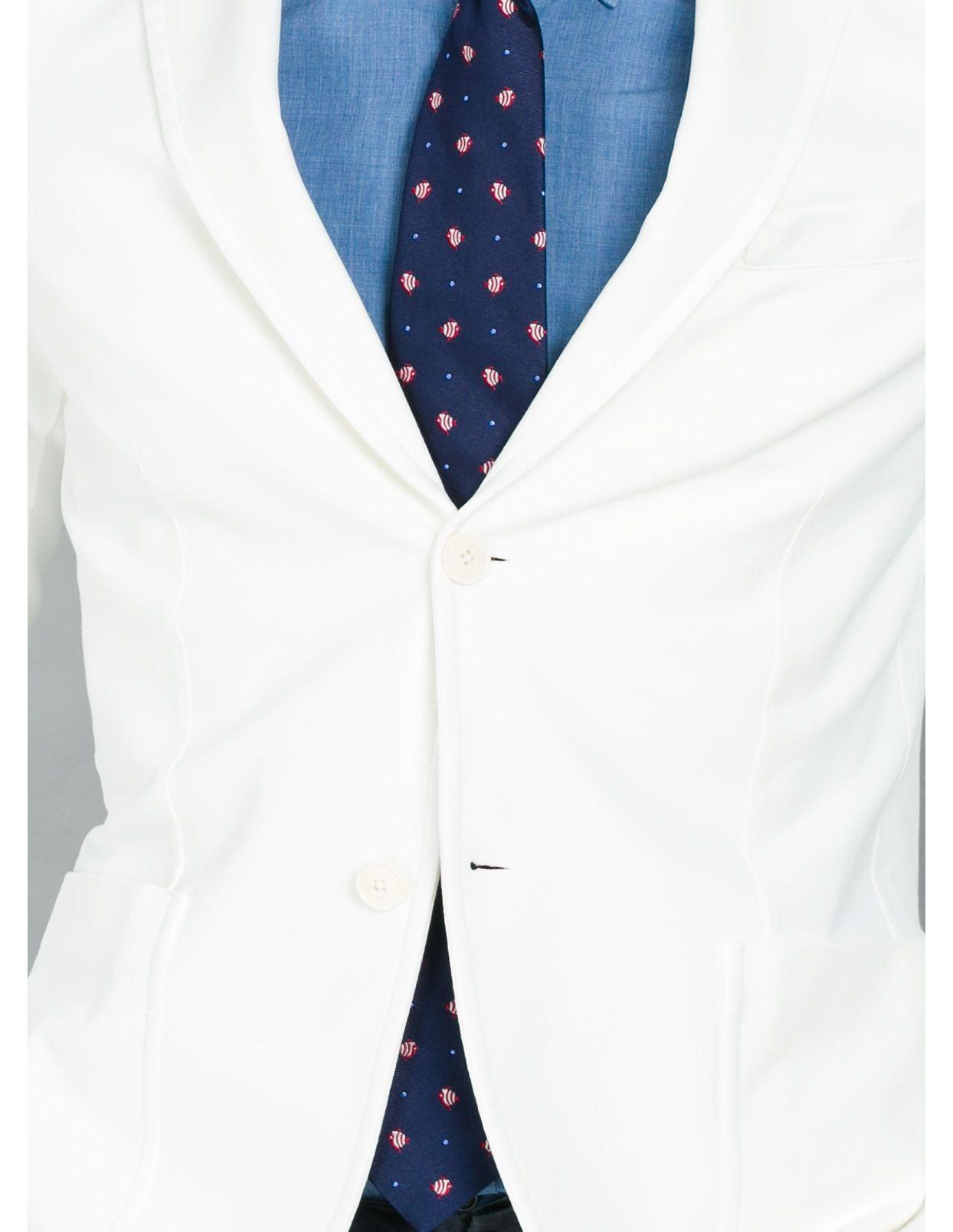 Americana soft 2 botones SLIM FIT color blanco, 95% Algodón 5% Elastán. - Ítem2