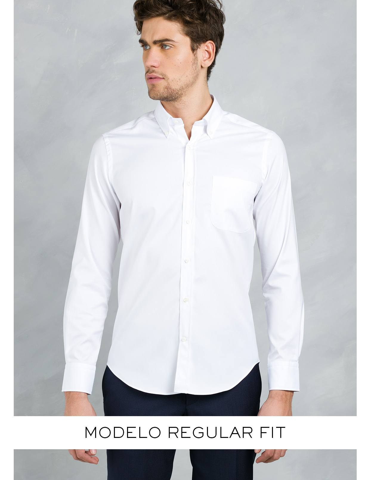 Camisa Formal Wear REGULAR FIT modelo BOTTON DOWN color azul , 100% Algodón. - Ítem3