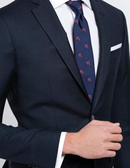 Traje liso SLIM FIT, tejido GUABELLO, color azul marino, 100% Lana fría. - Ítem2